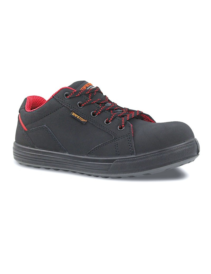 CAMPIO, zapato S3 casual de cordones en cuero vacuno 36-47