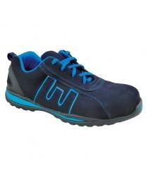 BAIO Azul, zapato S1P piel nobuck suela EVA metal free 36-47