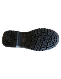 DUMIO, zapato S1P de cuero vacuno negro y cordones 35-48